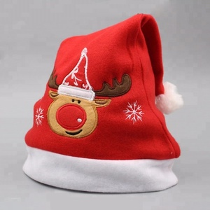Christmas Ornaments Decoration Christmas Santa Hats Children Women Men Boys Girls Cap For home Party festival wholesaler