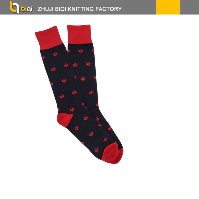 bq 0304 c mens valentines socks mens valentines day socks - Valentines Socks