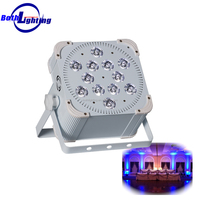 Most hot selling 12 lens Wireless battery powered DMX 18W RGBWA UV 6in1 LED Flat Par 12x18W LED uplights