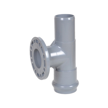 UPVC PVC Plastic Pipe Fitting One Faucet One Flange And One Insert Regular Tees Din With Rubber Ring