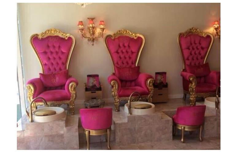 Luxe fancy bruiloft koningin en koning stoel goedkope koning troon