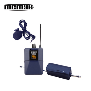 Hot sale plastic lavalier lapel microphone with bodypack transmitter MC821-4