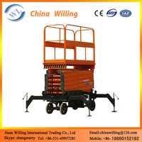 10m Hydraulic lifts, indoor and outdoor scissor lift platform WLY0.3-10