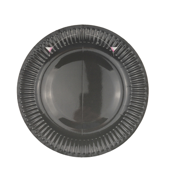 9 inch black paper plate custom print round disposable plate