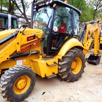 Used Cat 430F Backhoe Wheel Loader Cheap For Heaving working condition/ used caterpillar backhoe loader 420f
