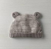 Heathered Organic Cotton Knit Baby Hat