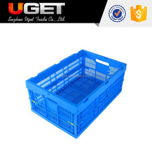 Eco-Friendly Durable Stackable Vented Folding Plastic Milk Crate For Sale