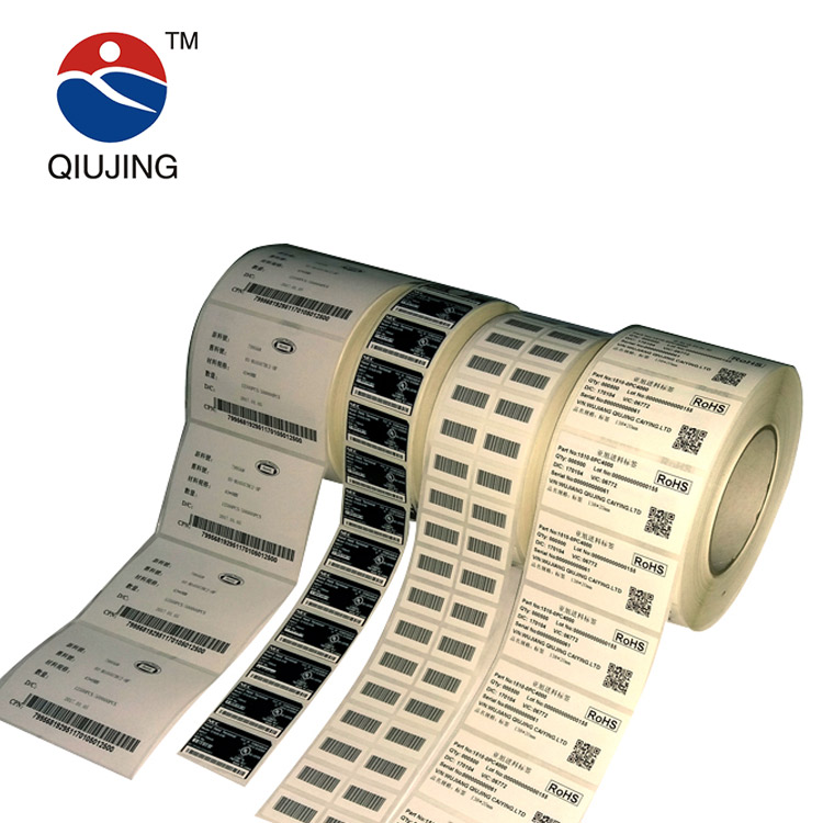Self Adhesive Waterproof Thermal Barcode Asset Tags Sticker Paper Labels