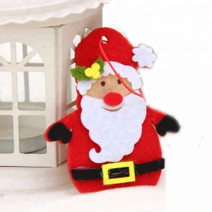 Wholesale Hot Sale Custom Felt Silk Screen Printing Ornaments for Christmas Tree Decoration