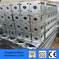 cold bending + welding steel structure, small steel bridges for sale