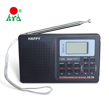Free Sample Digital Pocket Fm Portable Mini Radio With Earphone