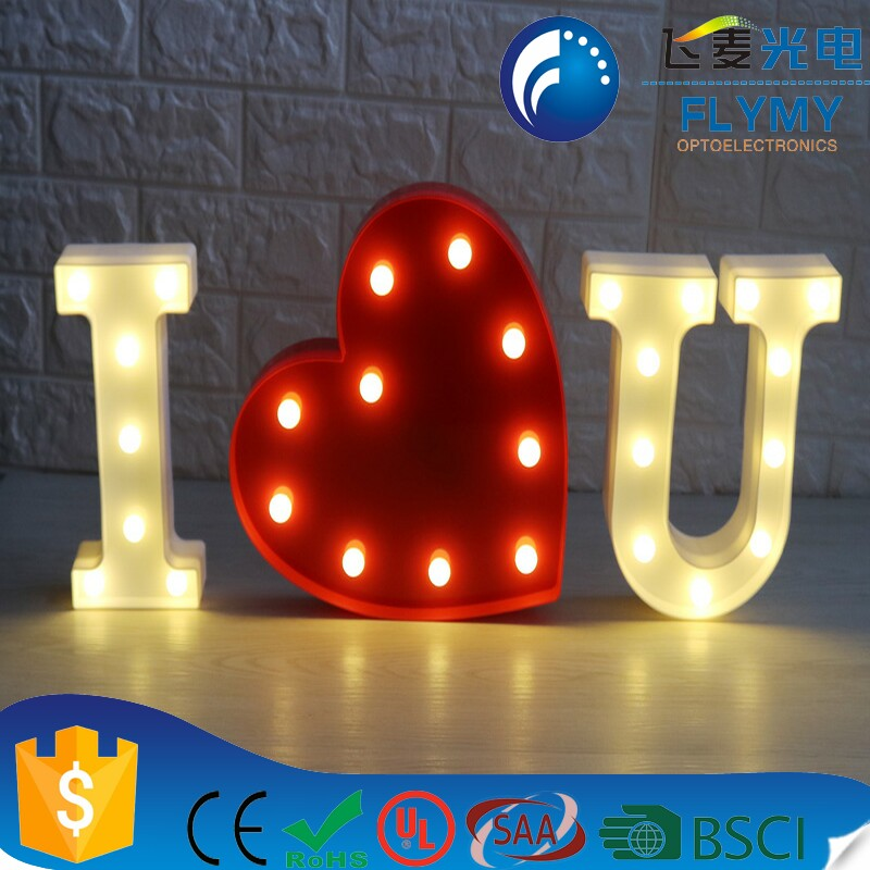 Warm White Marquee LED Letter Lights Sign Party Wedding Decor Battery Operated Alphabet Wall Marquee Decoration Lights E