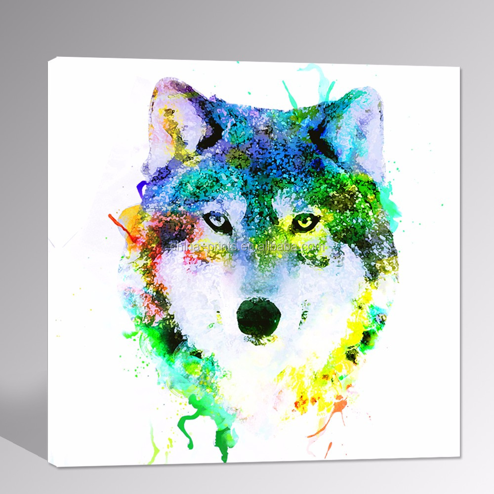 Art print POSTER Canvas Watercolor Wolf
