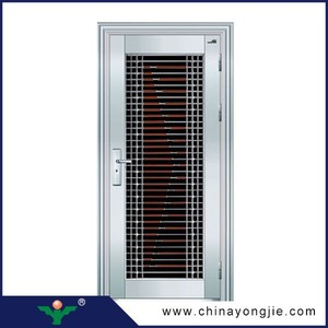 standards hot security doors type ss stainless steel door Amazing price luxury security stainless steel door