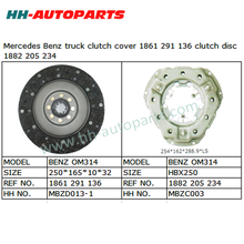 Clutch Plate 1861 291 136, Clutch Cover 1882 205 234 for Benz Truck Exedy Clutch Kit