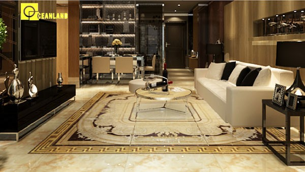 Super brillante pulido vitrificado piso azulejos de la for Azulejo vitrificado