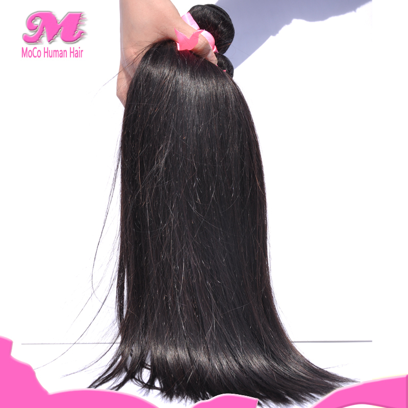 6A Unprocessed Malaysian Virgin Hair Straight Natural Black Percent Human Hair 4 Pcs Wholesale Malaysian Straight Hair Bundles