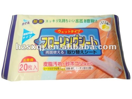10pcs 40pcs floor wet wipe scented or unscented OEM welcomed