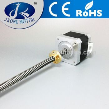 High torque nema 17 hybrid threaded shaft stepper motor for Threaded shaft stepper motor