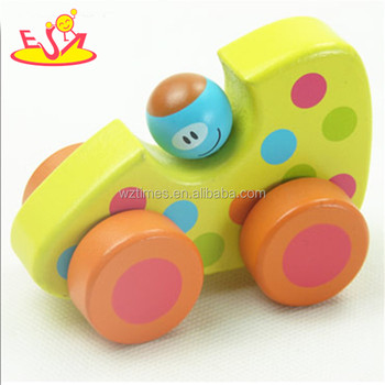 Wholesale High Quality Wooden Car Hand Drive Baby Wooden Toys For 1