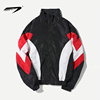 OEM Custom Wholesale color block letter print mens jacket security guard winter jacket