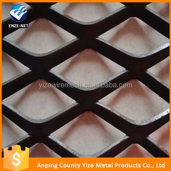 anti slip galvanized architectural expanded gothic mesh wall cladding