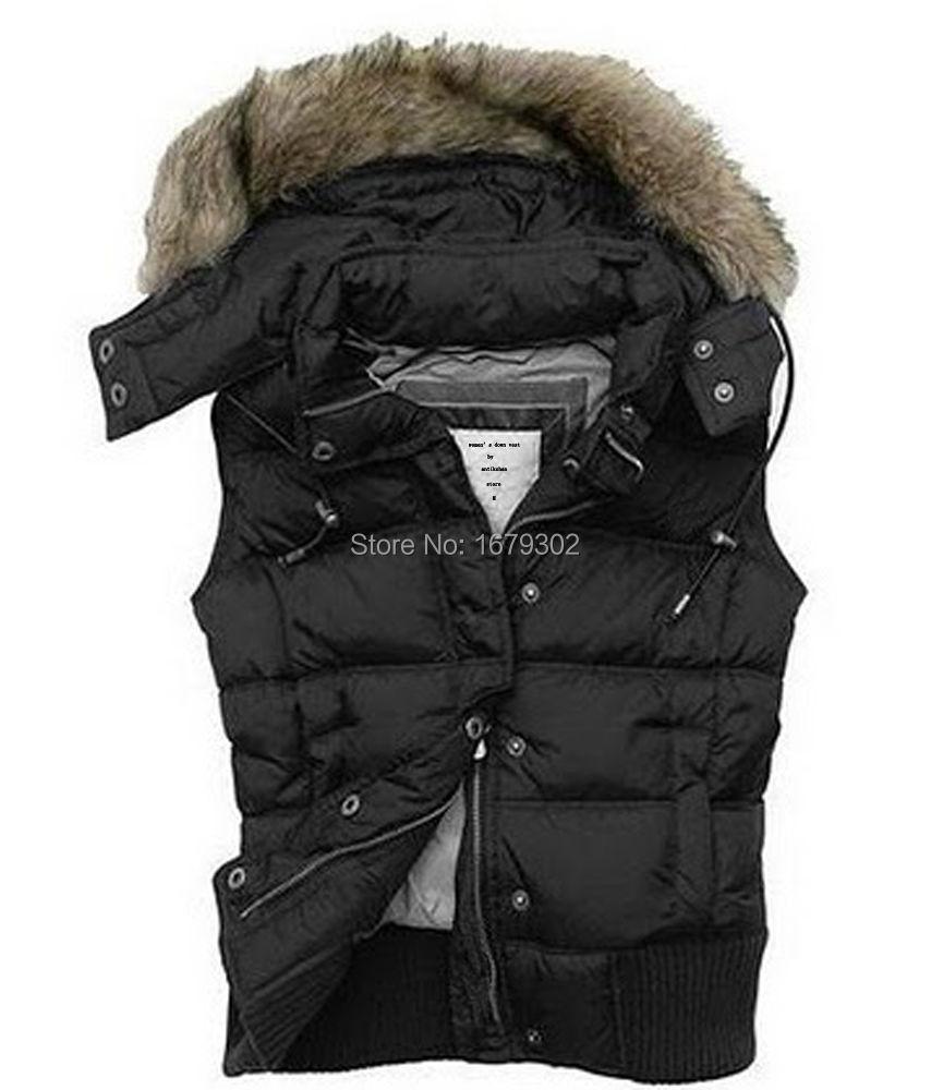 Get Quotations · Brand New Women's Girls Down Vest Jacket Fur Hooded Gilet  Goose Puffer Black Solid S M L - Cheap Puffer Vest Jacket Women, Find Puffer Vest Jacket Women