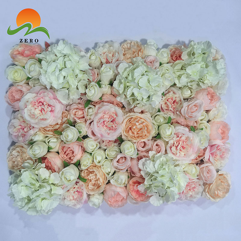 Zero Amazing Pink Silk Fake Flower Wall Artificial Flower Panel For