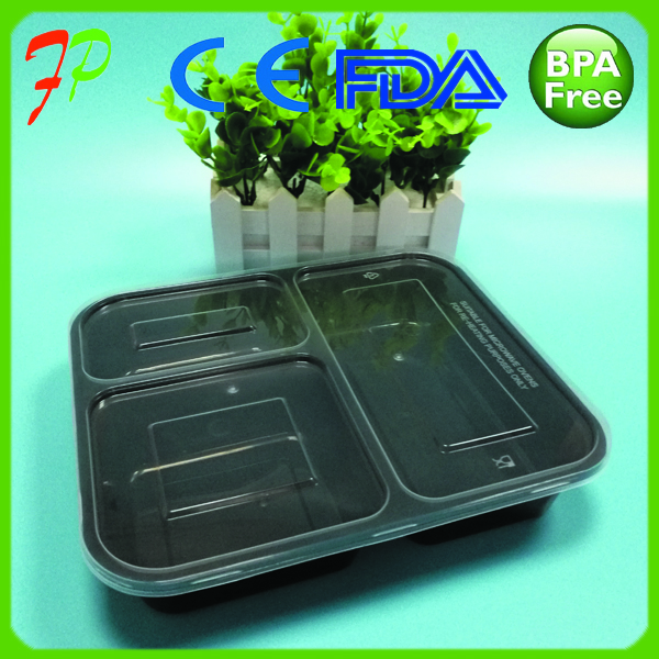 3 compartment disposable food container/disposable oven safe food container