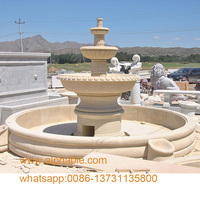 Natural Marble Water Fountain Garden Type Pool Fountain