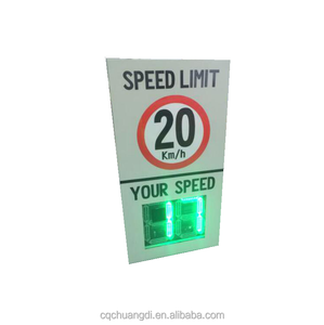 Remote control LED outdoor solar radar speed limit sign