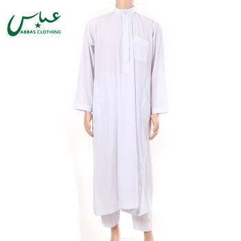 Hot Sell Popular Men Arab White Thobe With Good Price MT1009