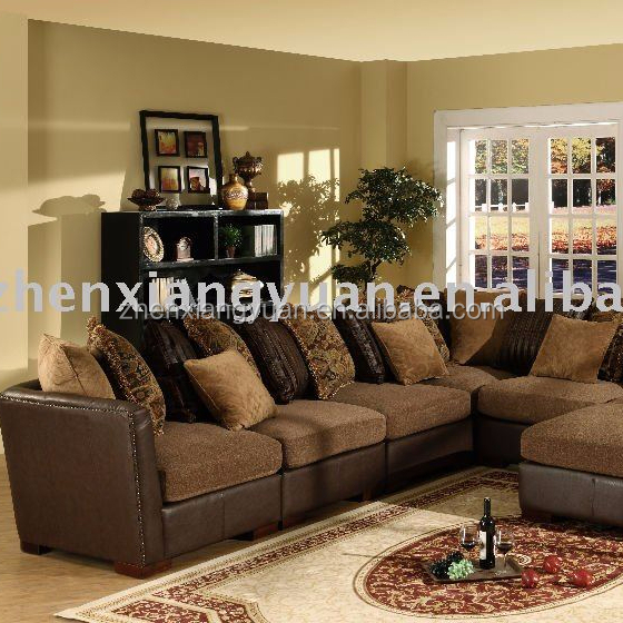 2018 living room furniture sectional wooden corner fabric sofa chaise sofa guangdong