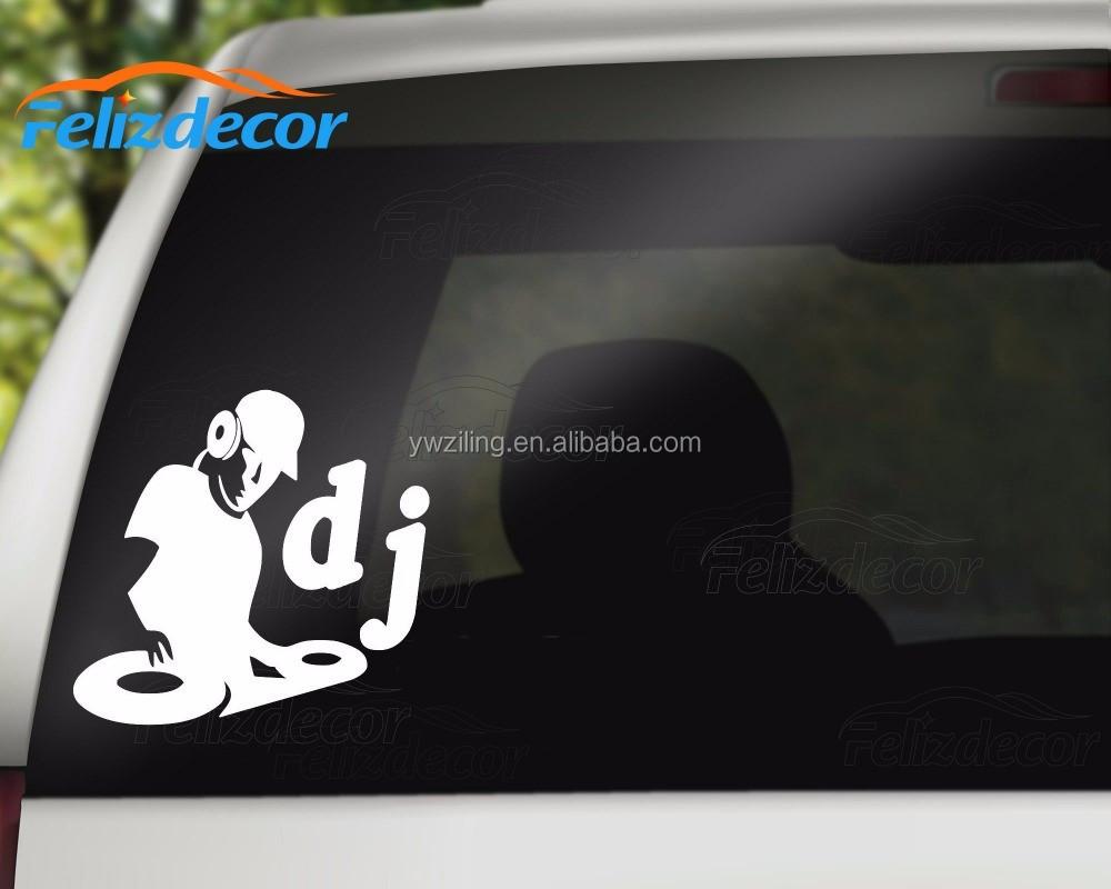 Dj decal car truck window tire cover art vinyl decals stickers l575