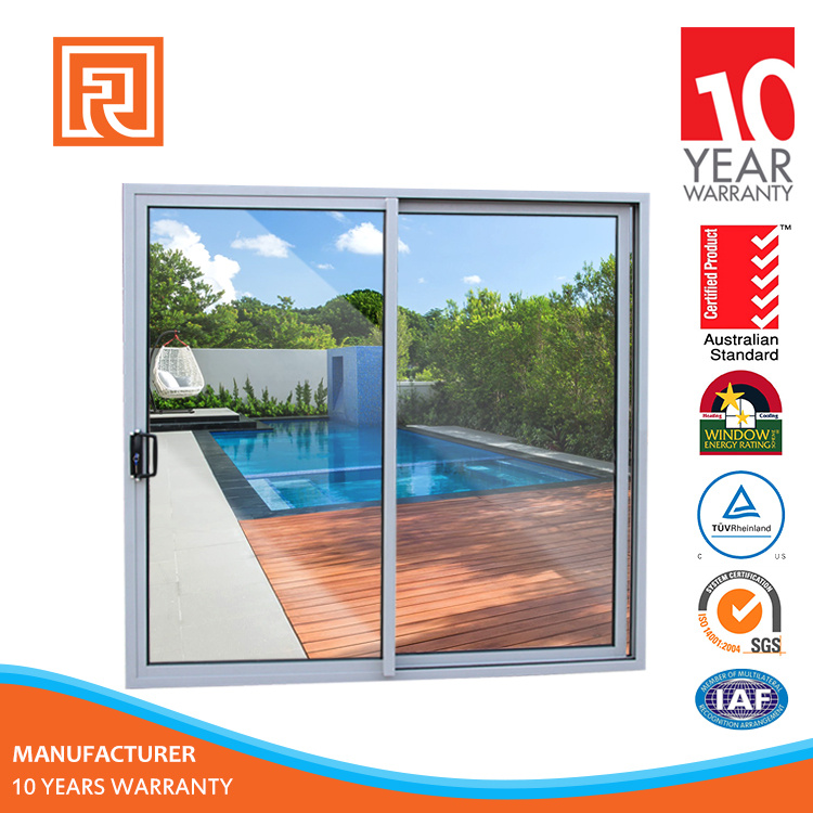 Shanghai Factory Price large sliding glass patio doors
