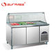 Commercial 2 doors stainless steel salad bar refrigerator sale