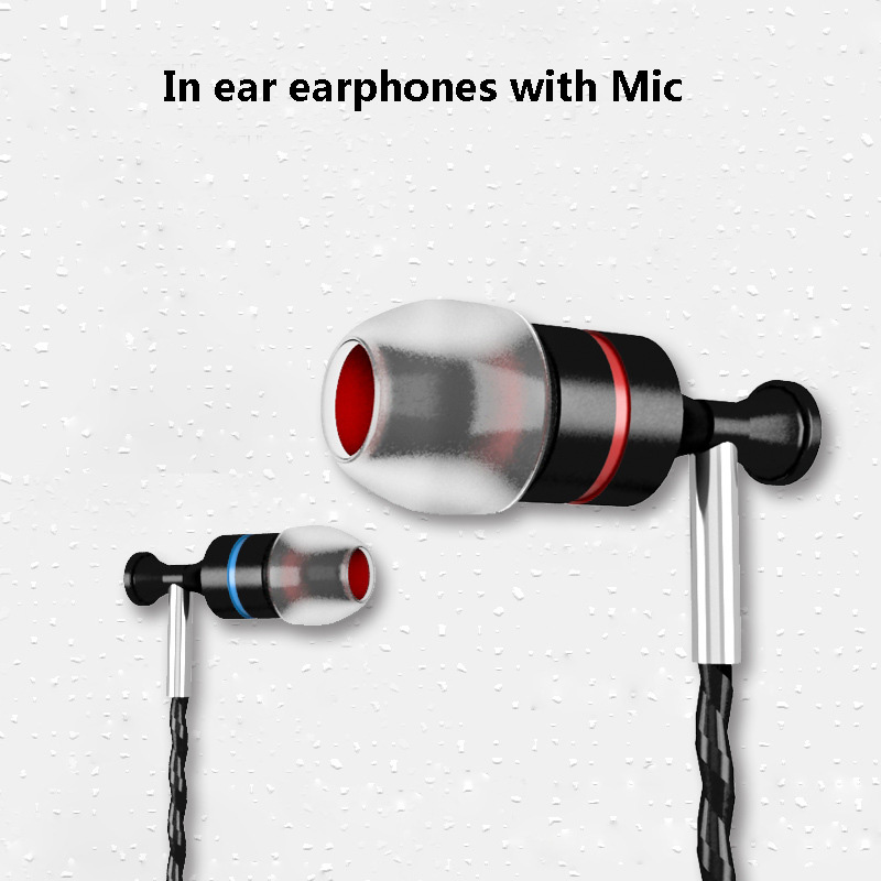 IV8 3 5mm In Ear Earphones With Microphone Deep Bass stereo earbuds handsfree Headphones For iphone