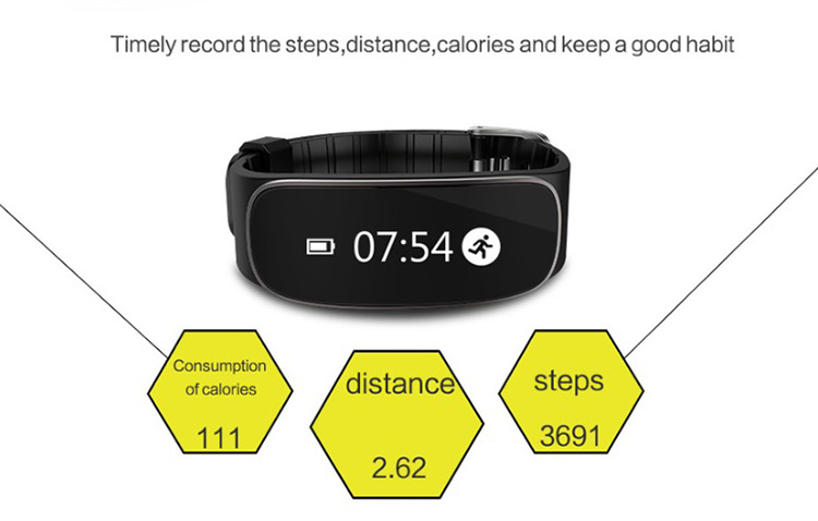 Bluetooth 4.0 H29 Heart rate monitor gps tracker smart bracelet touch screen wristband
