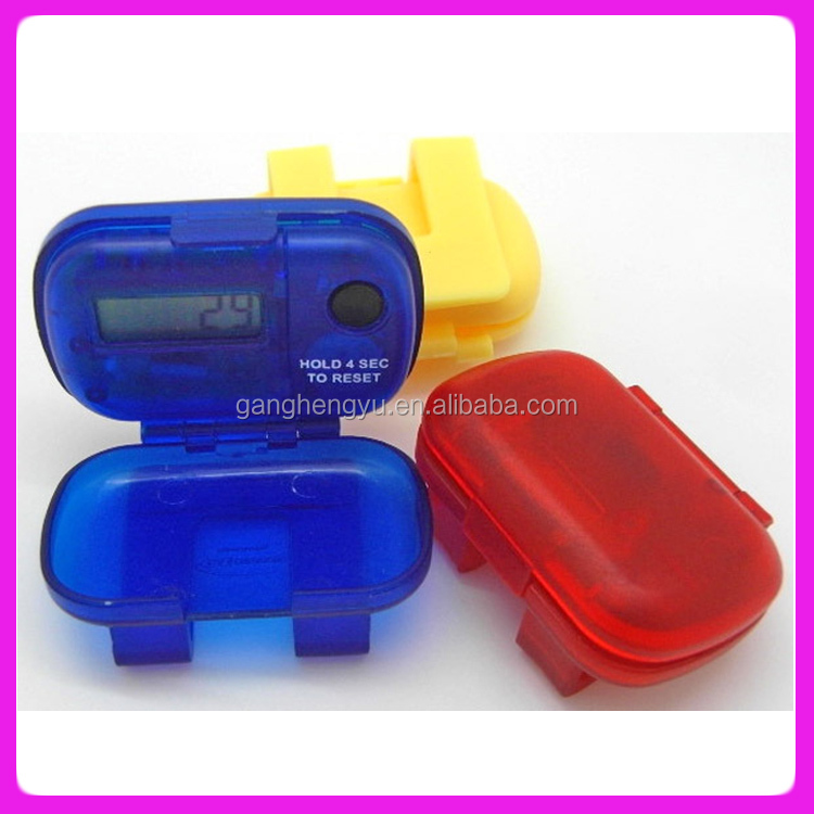 Hot Portable sports electronic digital flip pedometer