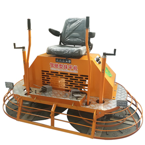 double pans to smooth concrete floors cement trowel machine with robin for sale