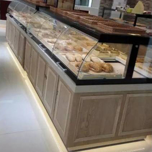Wooden bread display rack and shelf, used bakery equipment for sale