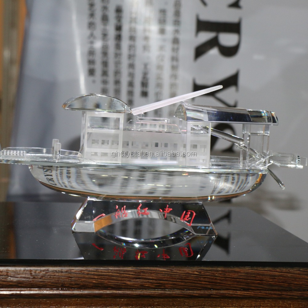 Crafts Gifts crystal boat model Crystal boat souvenir