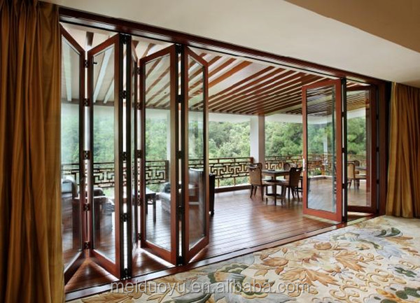 Aluminum Balcony Glass Exterior Folding Doors