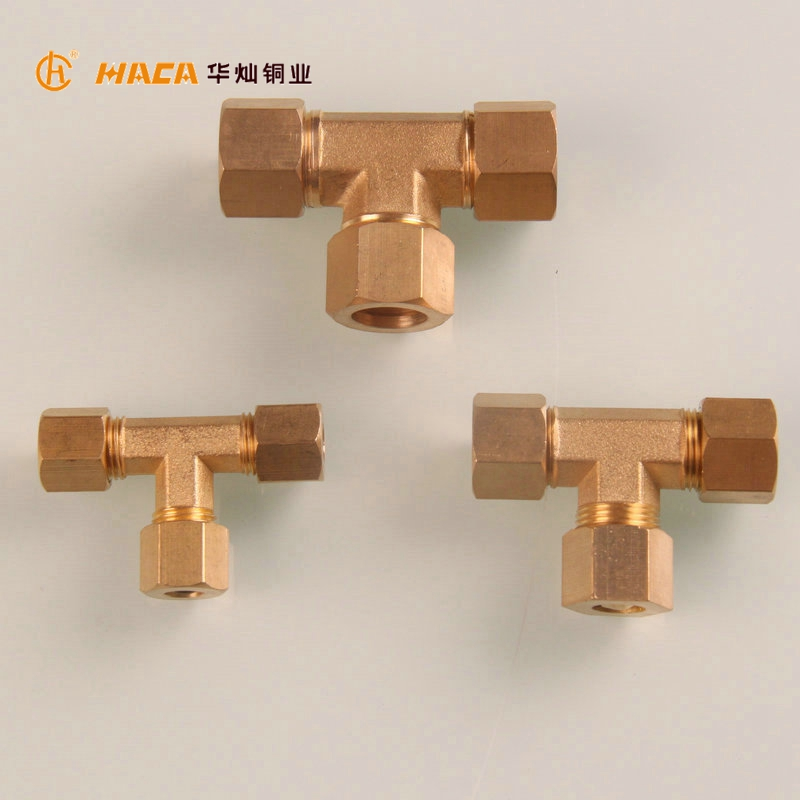 6mm Br Double Ferrule Compression Tee Ings Union Connect