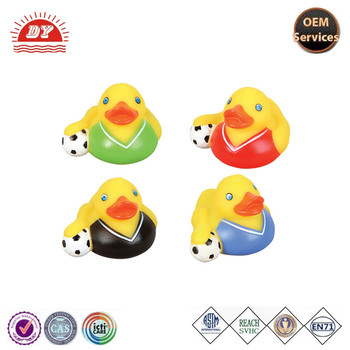 custom make pink color ski rubber duck for kids