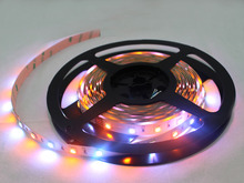 double line battery powered rgb rainbow color led strip