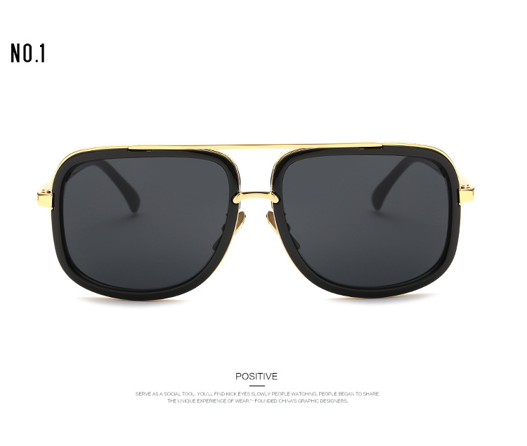 8a3bbba33d Wholesale Fashion Luxury Mens Sunglasses Brand Designer Flat Top Lens Sun  Glasses For Men Square Gold Male Sunglass Driving Big Metal Man Native  Sunglasses ...