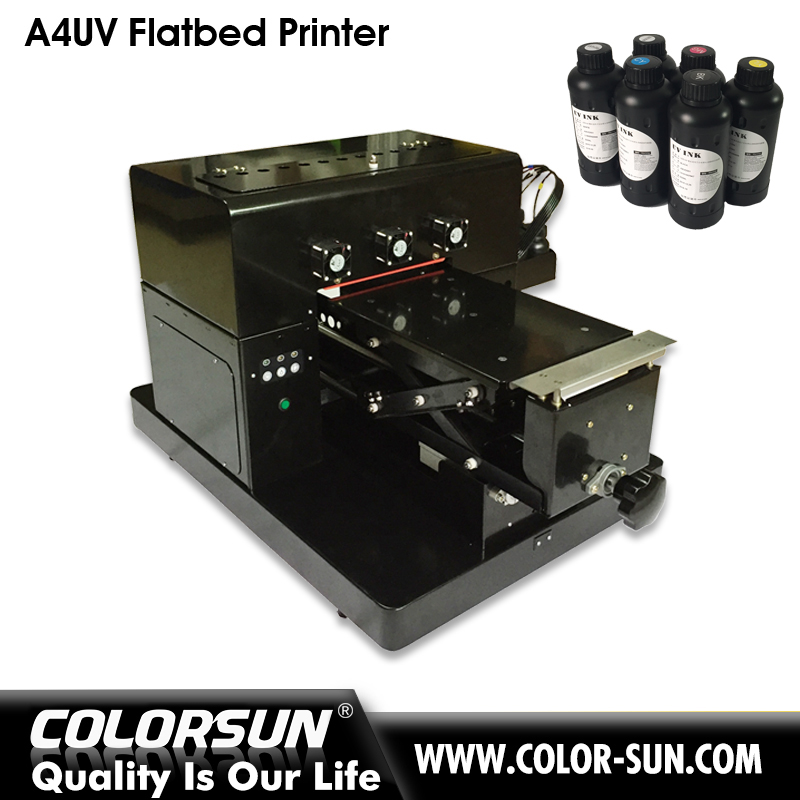 Top selling A4 size dx head KT board / pen /golf ball printing machine A4 uv printer flatbed printer