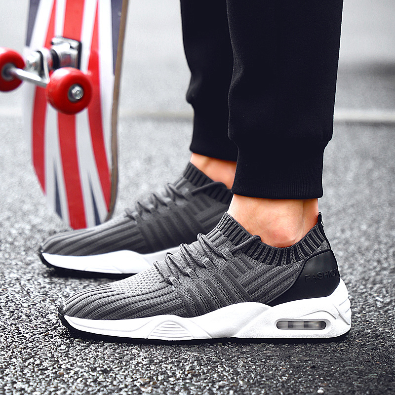 shoes wholesale running for upper OEM air ODM men knitted cushion Cgg0Tf