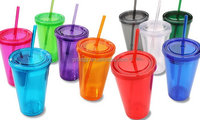 Manufacture wholesale custom logo 16 oz plastic straw cup